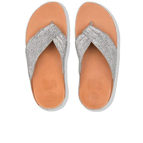 Plata Microfibra Color Cuña Sandalias Fitflop En Mujer Modelo De Twiss T7cvqA