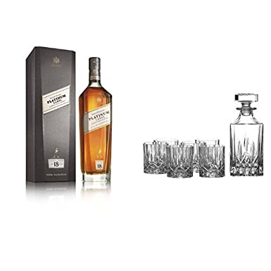 fc86b125c32a Johnnie Walker Platinum Label Blended Scotch Whisky and Royal Doulton  Crystal Decanter Set of 7  Amazon.co.uk  Grocery