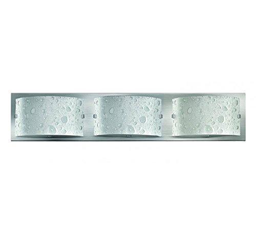 Hinkley 5923BN-LED, Daphne Glass Wall Sconce Lighting, 3 Light LED, Nickel