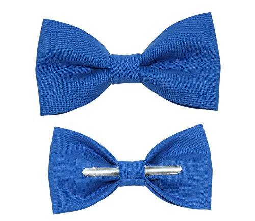 Toddler Boy 3T 4T Royal Blue Clip On Cotton Bow Tie