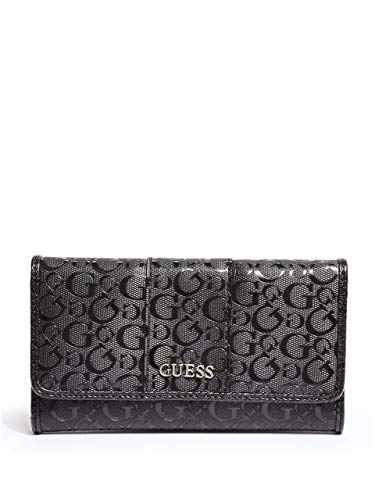 GUESS Factory Women's Ware Patent Logo Slim Wallet