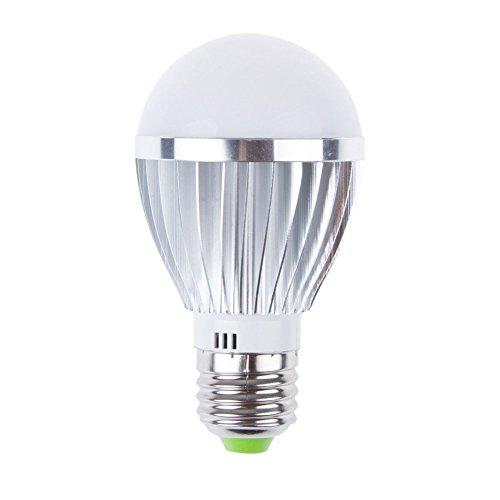 Cospring LED Light Bulbs 5Watts CFL Energy Saving Intelligent Light bulb Ultra Bright LED Bulbs of Household Lighting Lamps , White Bulb100-240V E26/E27, Daylight White 6500K, Non-Dimmable