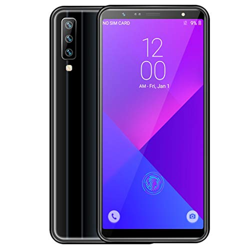 Unlocked Smartphone Global 3G, Android 8.0 OS, MT6580 Quad-Core, 1G+16G Extended Memory 128G GPS WiIFI, 2MP+5MP Cameras, Dual Sim, Unlocked Cell Phones (Black)
