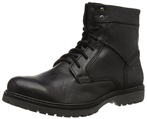 Dockers 37NS001 - botas de combate de cuero hombre negro - negro