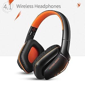 KOTION EACH Auriculares Bluetooth Wireless Headset B3506 Plegable Gaming Headset v4.1 con Microfono para PS4 PC MAC Smartphones Ordenadores(Negro+Naranja)