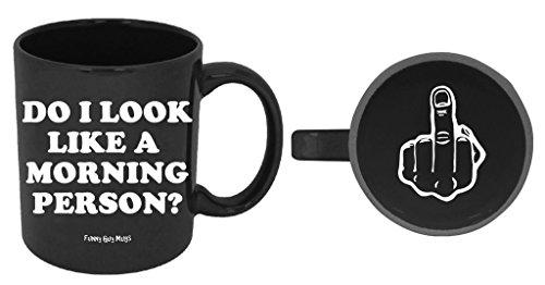 Funny Guy Mugs Do I Look Like A Morning Person? Ceramic Coffee Mug, Black, 11-Ounce Perfect Presents For Boyfriend