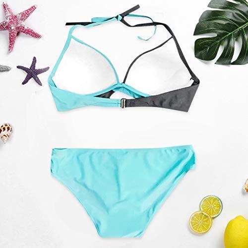 Poliestere Solido Bagno Valentino Nero Pezzi Fascia Due 2019 Per Casual Costumi Ihengh Donna Bikini Da Sexy San Spiaggia Blu Costume Brasiliano Bainco tqYx4Rwf7