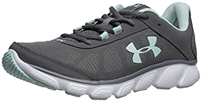 Under Armour Women's Micro G Assert 7 Sneaker, Black/White/White