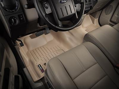 2012-2015 Dodge Ram Truck 1500/2500/3500 Crew Cab Tan Weathertech Floor Liners (Full set: 1st and 2nd Row) [First Row: