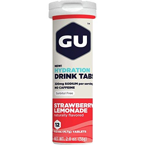 GU Hydration Drink Tabs - 8 Tube Pack Strawberry Lemonade, 8tubes/Box (Drink Tabs)