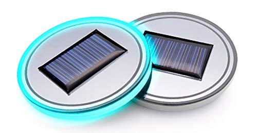 ((Pack of 1) Solar Energy LED Car Cup Holder Bottom Pad Mat Interior Lights Fitment Trim for Buick Enclave Lacrosse Encore Rendezvous Century Lesabre Verano Regal Boat Envision Park Avenue Accessories)