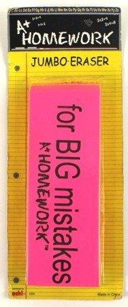 Jumbo Pink Beveled Eraser 48 pcs sku# 1121016MA by DDI (Image #1)