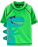 Carter's Boys' Toddler Rashguard, Dinosaur, 5T