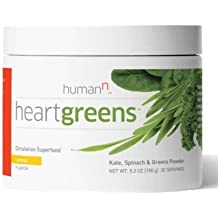 HumanN - Heart Greens - Athletic Green Superfood formulated to Support Nitric Oxide Production - Refreshing Lemon Flavor 5.3 ounces 30 servings