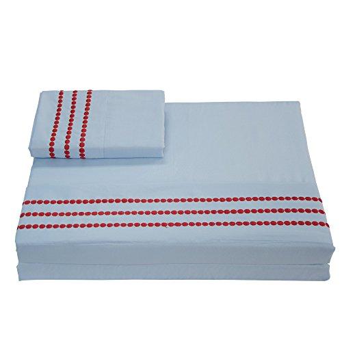 Merryfeel Bed Sheet Set Hotel Quality Brushed Velvety Microfiber - Blue Queen