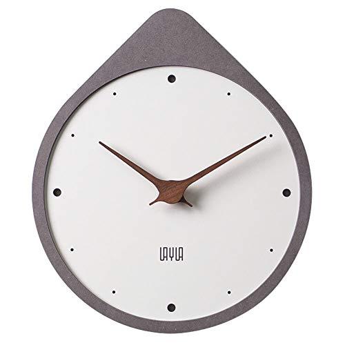 Layla Wooden Wall Clock, Non Ticking Silent Quartz Movement,