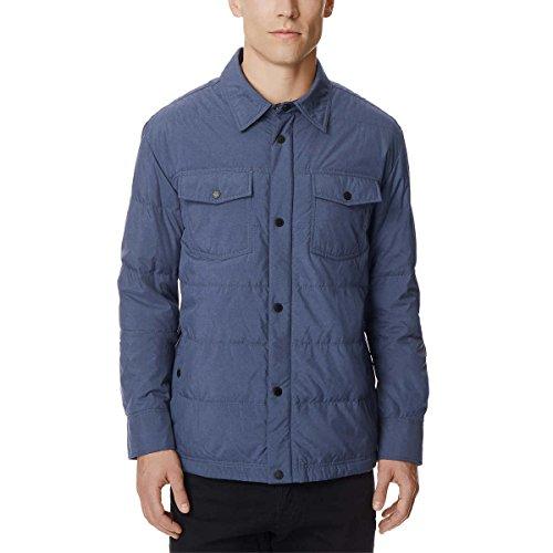 32 Degrees 32Degrees Weatherproof Men's Packable Down Shirt Jacket (Lt, Denim Melange) (Jackets Denim Wholesale)