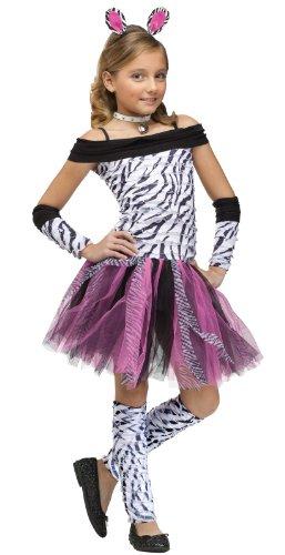 Fun World Big Girl's Zebra Kids Costume Childrens Costume, Multi, Large