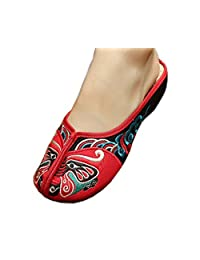 Womens Embroidered Summer Slippers Wedges Sandals Shoes for Cheongsam, 02