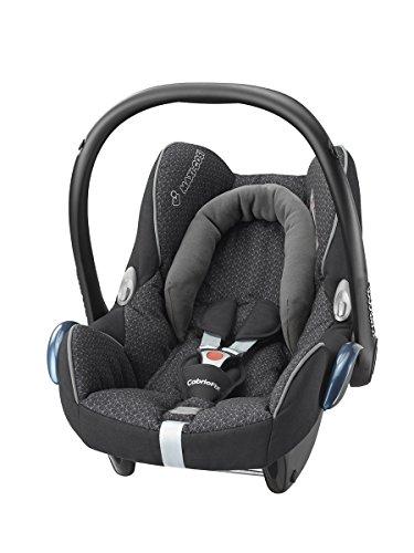 Maxi-Cosi Babyschale Cabriofix, extraleicht, Nutzung im Auto in Kombination mit allen Maxi-Cosi Basisstationen oder mit dem 3-Punkt-Gurt, Seitenaufprallschutz, Gruppe 0+ (0-13 kg), black crystal