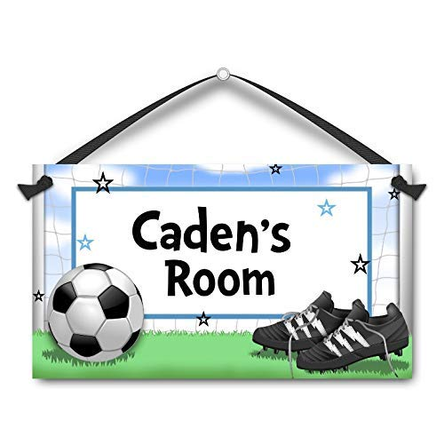 Soccer Kids Door Sign Personalised Name Plaque Sports Ball