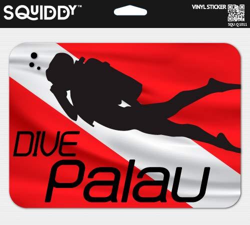 Squiddy Dive Palau - Vinyl Sticker (7