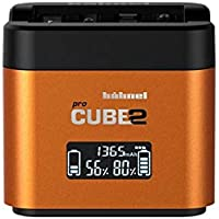 Hahnel Pro Cube 2 Dual Charger - Sony - Color: Yellow