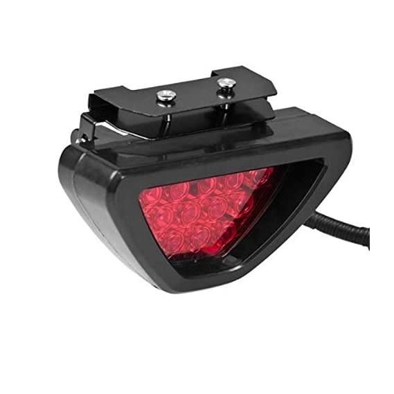 Auto Snap Car Blinking Brake Light Triangle F1 Style Rear Tail Brake Lamp 12V Universal Fit for All Cars (Red)