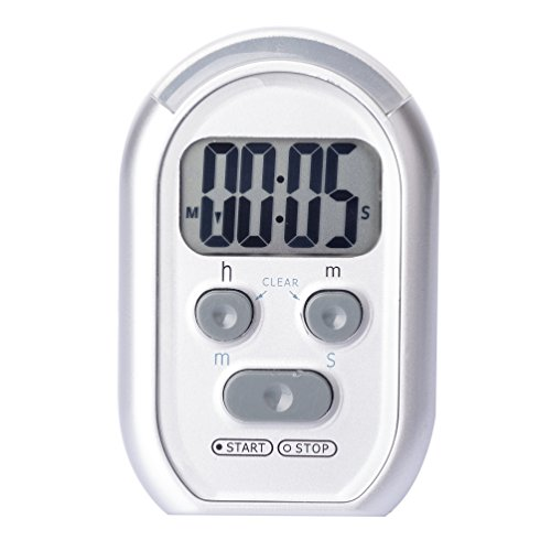 ZYQY x-wlang 3-in-1 Alerts 1013 with Vibration beep and Flash.(Kitchen, Medical, Therapeutic Timer), Silver