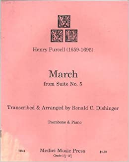 PURCELL: March, from Suite No  5 (Trombone and Piano): Composer