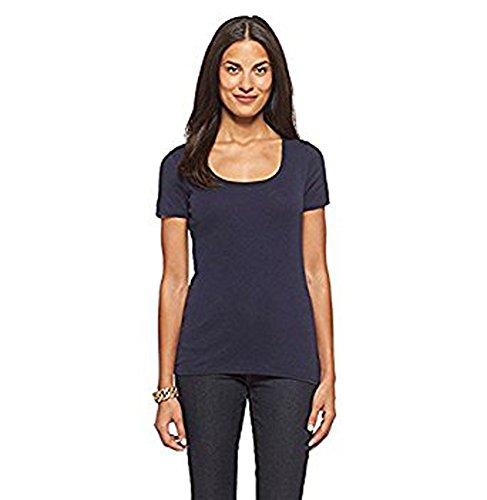 Merona Women's Short Sleeve Ultimate Scoop Tee TShirt - Xavier Navy Blue - Large from Merona
