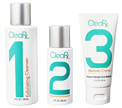 Price comparison product image CleaRx Maximum Strength 3-Step Stubborn & Severe Acne Treatment System (60 Day Supply)