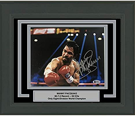 27dd07dd28975 Framed Autographed Signed Manny Pac-Man Pacquiao 8x10 Photo Beckett ...