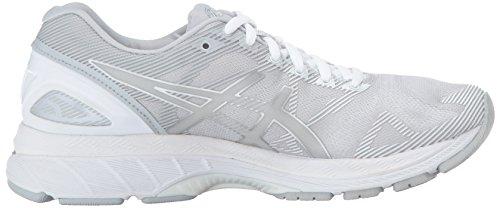 ASICSWomens Glacier White para Gel para 19 Nimbus 19 Nimbus Gel Grey Mujer Mujer Silver rvq4rFx