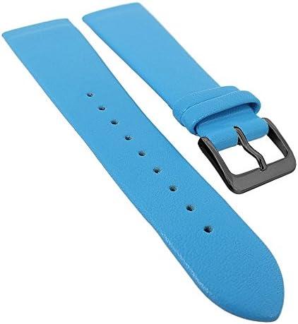 Minott Uhrenarmband, Ersatzband aus Leder zum verschrauben, 29704, Stegbreite:16mm, Schließe:Schwarz