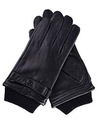 COOMEN Men's TOUCHSCREEN Winter Leather Driving Gloves