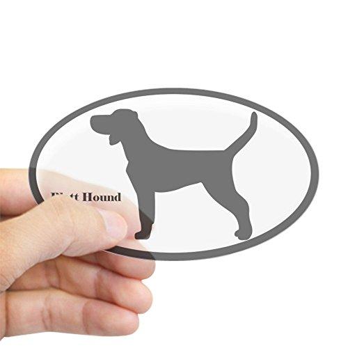 Hound Bumper Sticker (CafePress - Plott Hound Silhouette Oval Sticker - Oval Bumper Sticker, Euro Oval Car Decal)
