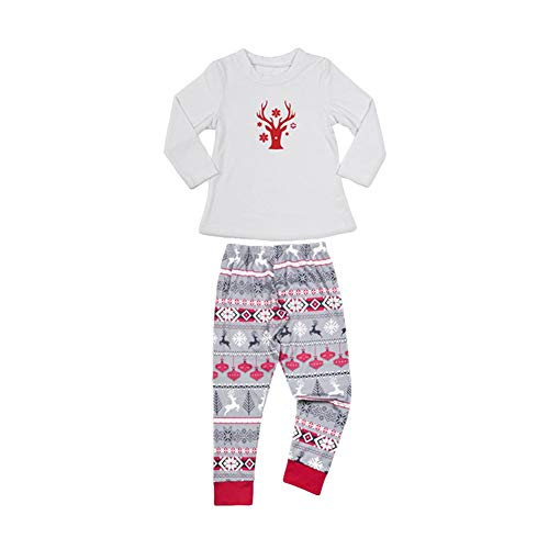 Deer Christmas Mamma Papà Pantaloni Poliestere Autunno Cute Kid Segrj Home T Set Modello Pigiama Pigiama xl Bambini shirt wqE5pxCX