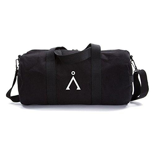 Stargate Earth Army Army Heavyweight Canvas Duffel Bag in Black, Large