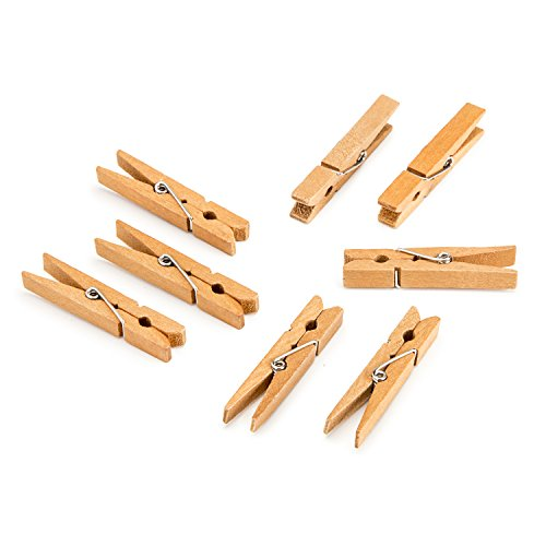 (Darice Walnut, 1 7/8 inch Clothespins Medium Size Clothepins, 30 Piece)