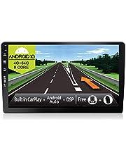 JOYX radio samochodowe z systemem Android 10 z podwójnym DIN – [4 G + 64 G] – wbudowane DSP Carplay Android Auto – bezpłatna kamera cofania LED – z nawigacją GPS – 10,1 cala – obsługuje sterowanie kierownicą DAB 4G WiFi Bluetooth5.0