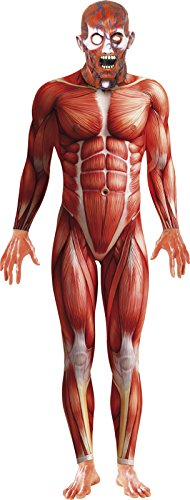 Smiffy's Men's Anatomy Man Costume, Bodysuit and Mask, National Horror Service, Halloween, Size M, (Men National Costume)