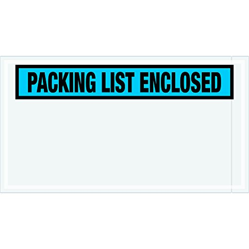 Ship Now Supply SNPL431Packing List Enclosed Envelopes 5 1/2 x 10 Width 5Length Blue (Pack of 1000)