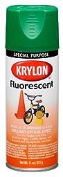 Krylon (3106-6 PK) Green Fluorescent Paint - 11 oz. Aerosol, (Case of 6)