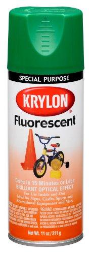 Krylon (K03106007-6 PK) Green Fluorescent Paint - 11 oz. Aerosol, (Case of 6)