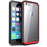 SUPCASE Case for iPhone 6/6s - Retail Packaging - Clear/Red/Black