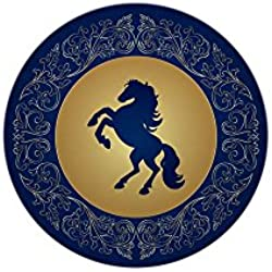 Mini Button Horse on Dark Blue Field