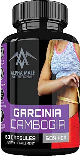 Alpha Male Pure Garcinia Cambogia Extract with Chromium - Fast Acting Supplement for Better Weight Management & Helps to Increase Your Metabolism Best Weight Management Pills Available