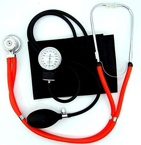 Valuemed esfigmomanómetro + rojo tubo Sprague Rappaport Estetoscopio Bundle profesional de la medicina – Tensiómetro aneroide Pro CE NHS unidad + estetoscopio en caja: Amazon.es: Jardín