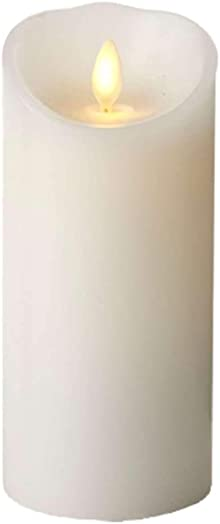 Luminara Classic 3 in. W x 6 in. H White Pillar Candle with Timer
